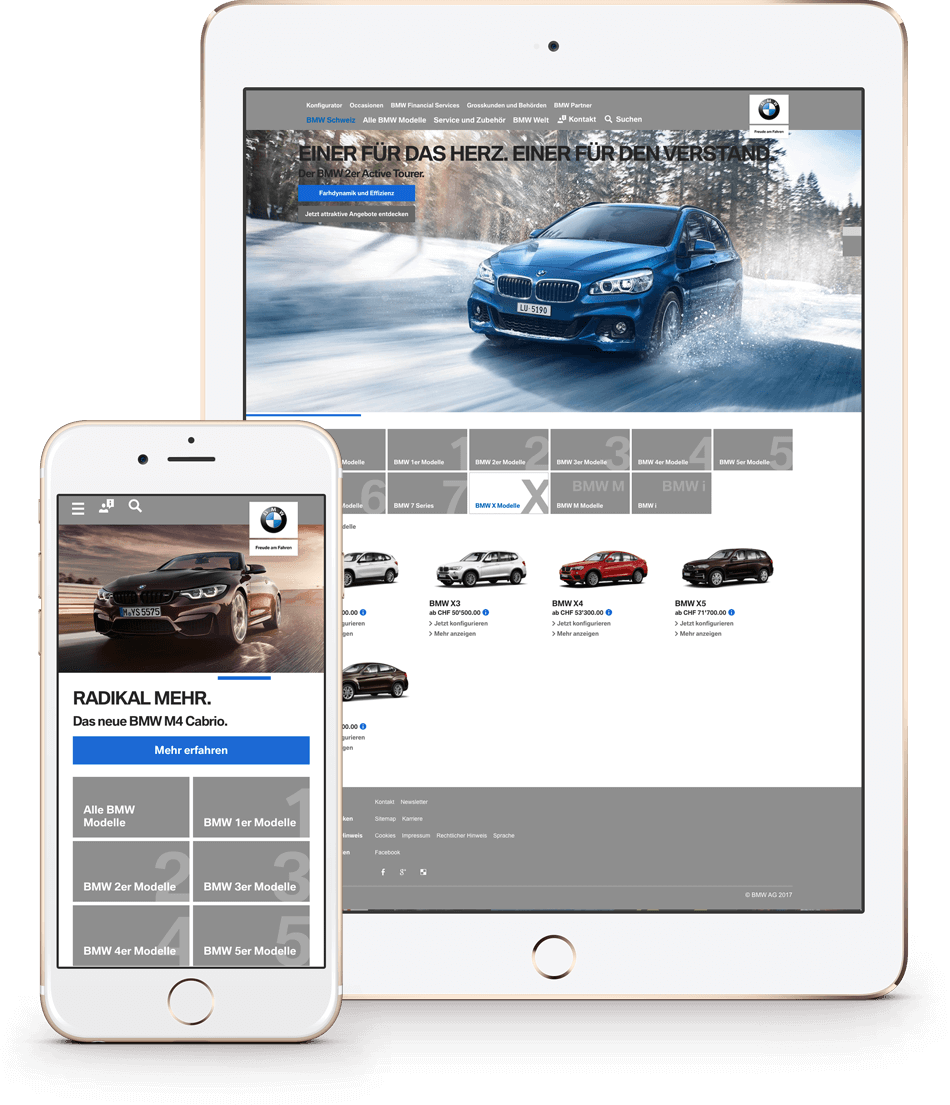 To improve the efficiency of their online and digital marketing activities, BMW Schweiz sought a new online agency to consolidate their significant workload. With Notch Interactive, they chose the perfect creative partner; Notch turned to Curve Interactions to provide the engineering and operations expertise needed to successfully execute the challenging array of tasks.