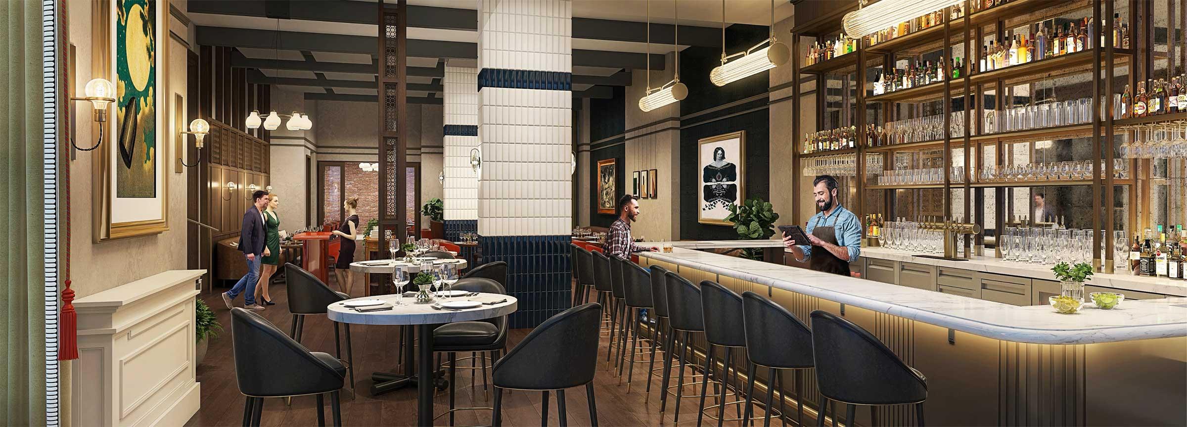 Revivalist restaurant bar and lounge, hotel in Huntsville, 106 Jefferson