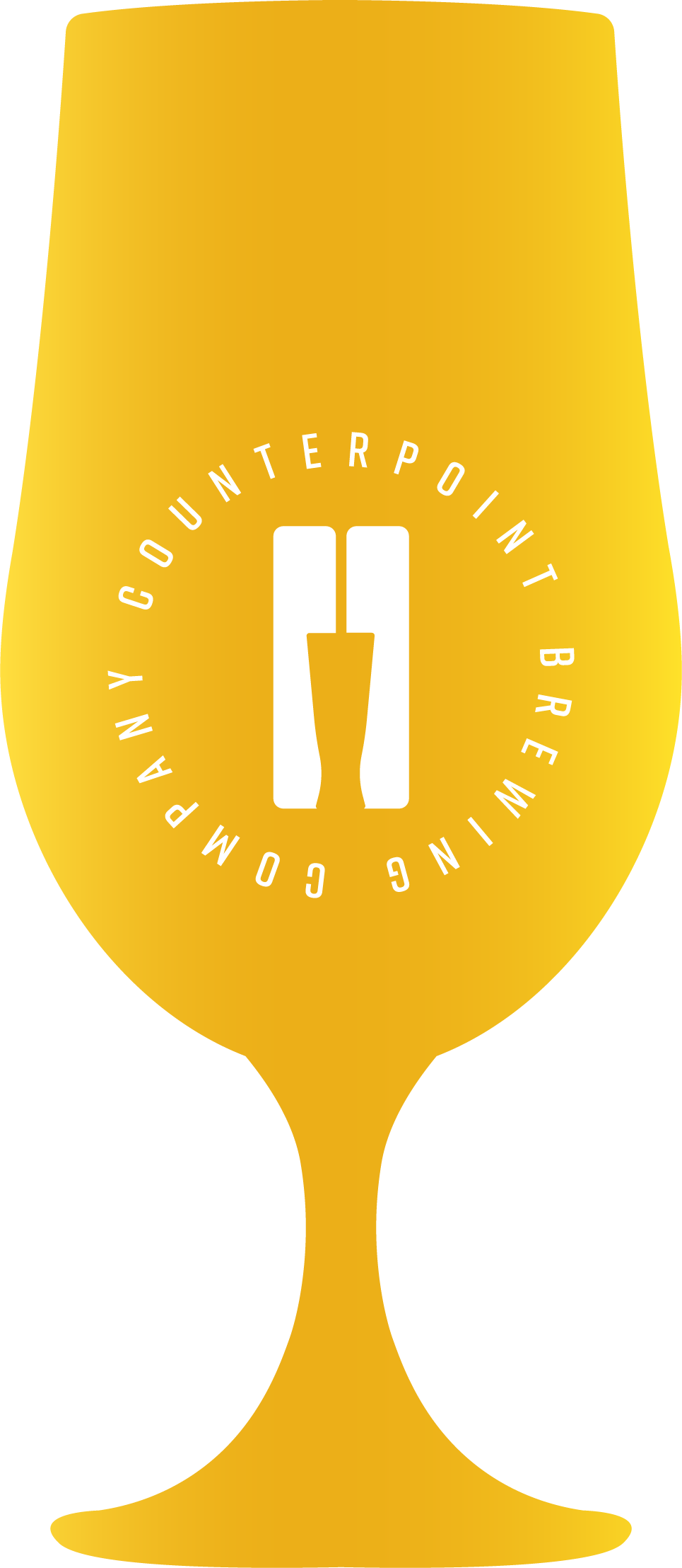 Icon shaped like a beer glass, demonstrating beer colour - Pale Gold