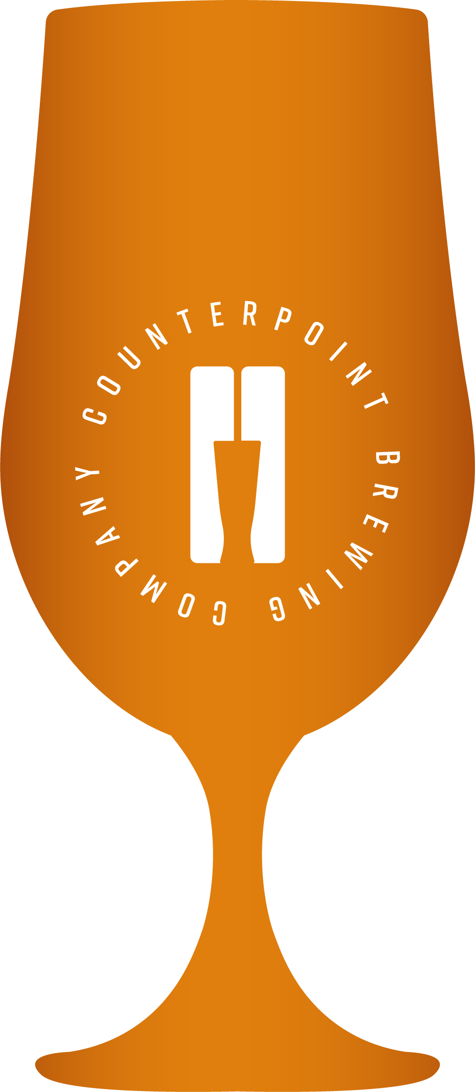 Icon shaped like a beer glass, demonstrating beer colour - Pale Amber
