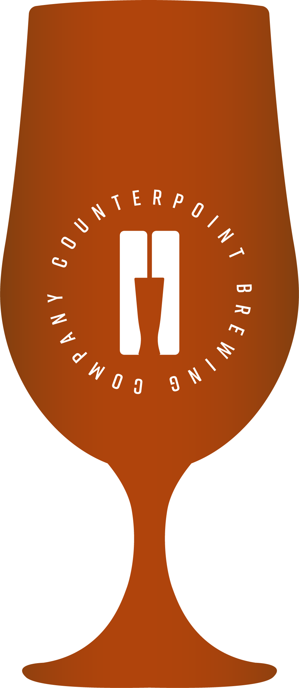 Icon shaped like a beer glass, demonstrating beer colour - Deep Amber