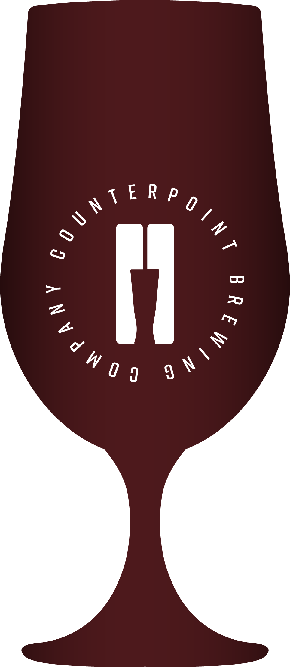 Icon shaped like a beer glass, demonstrating beer colour - Ruby Brown