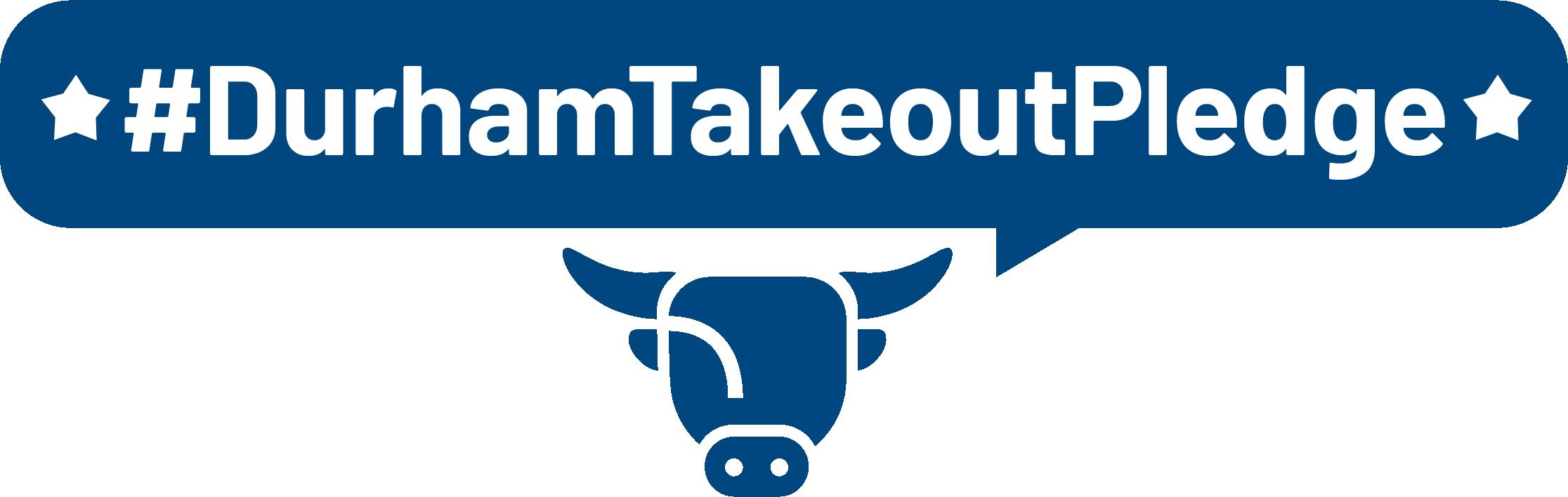 Durham Takeout Pledge logo