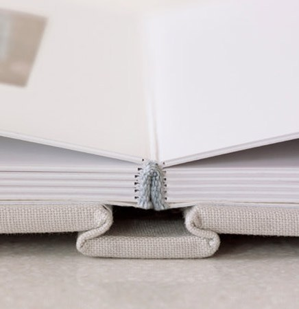 white photo album close up photo