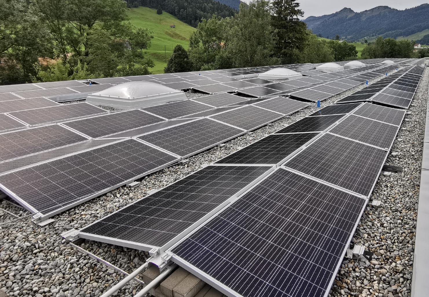 Inbetriebnahme der Solaranlage