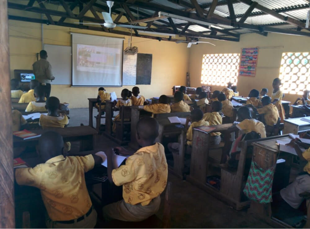 professional operation of e-learning in remote areas