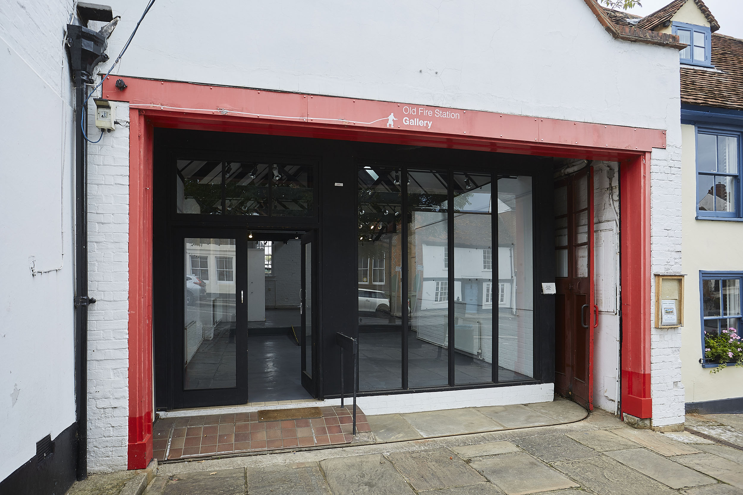 Henley Town Council - old fire station exterior with open door