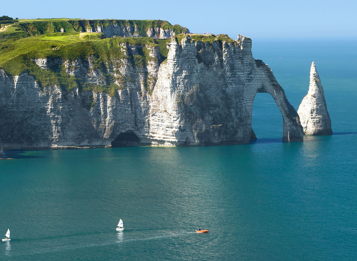 Henley Town Council - white cliff and arch on the coast of FALAISE (in Normandy, France)