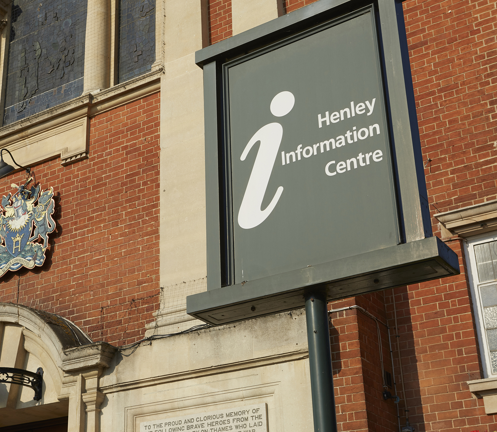 Henley Town Council - the sign outside the information centre