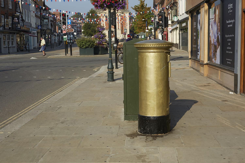Henley Town Council - Henley's Golden post box
