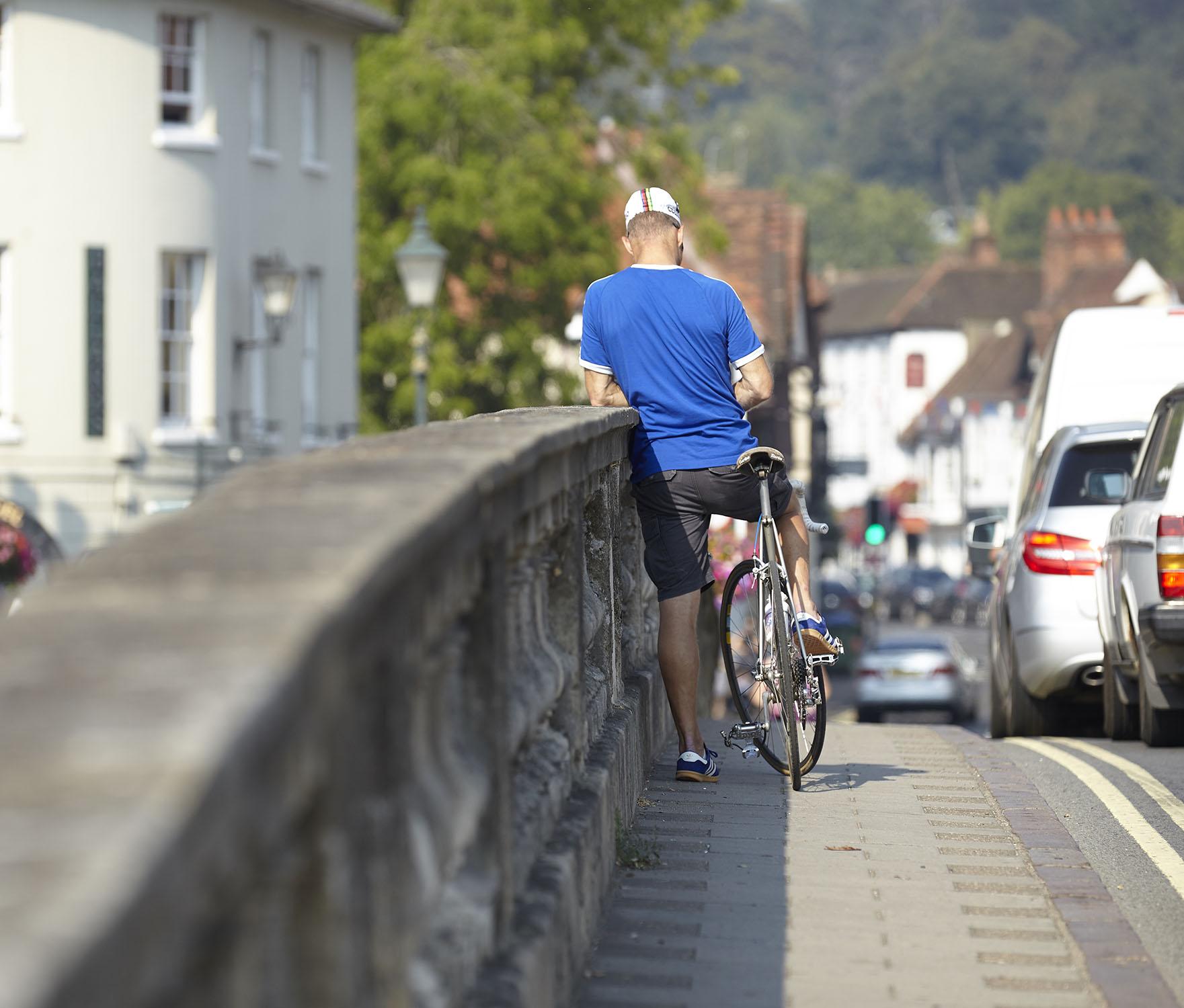 Henley Town Council - Cyclist on Henley bridge