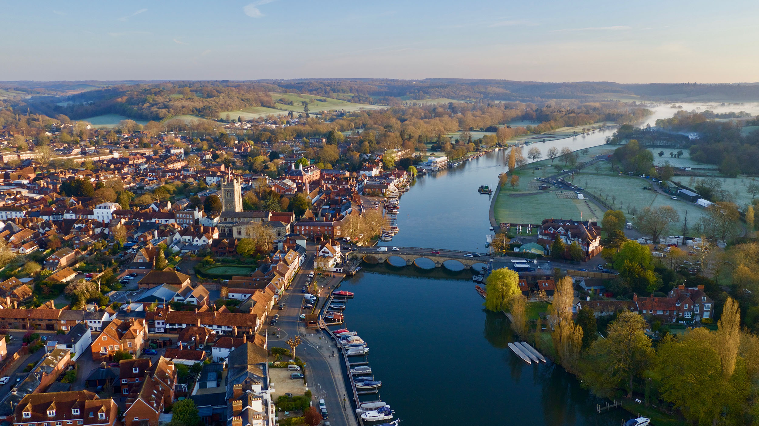 Henley Town Council - view of Henley town from above