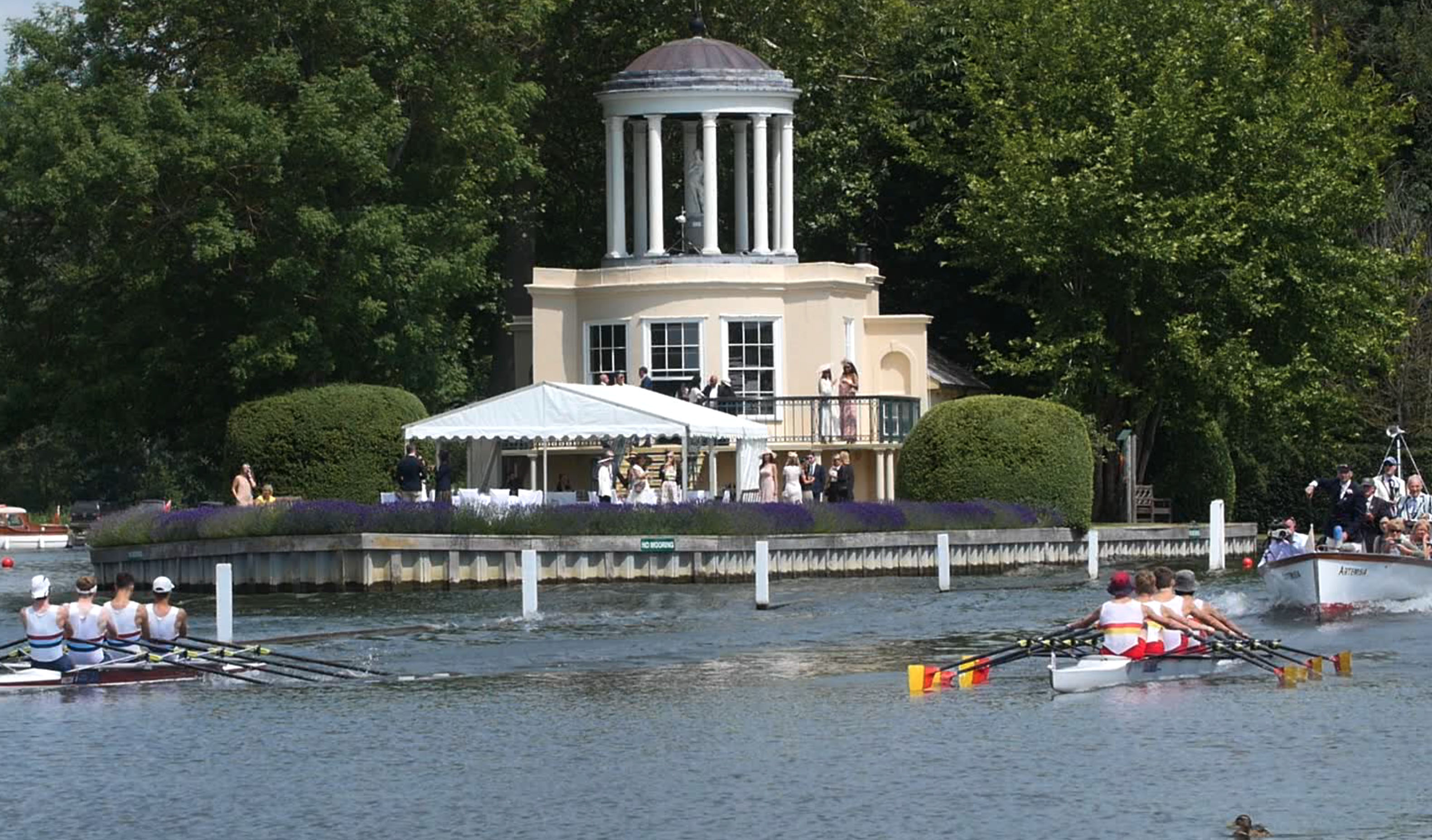 Henley Town Council - view of the riverbank during Henley Royal Regatta