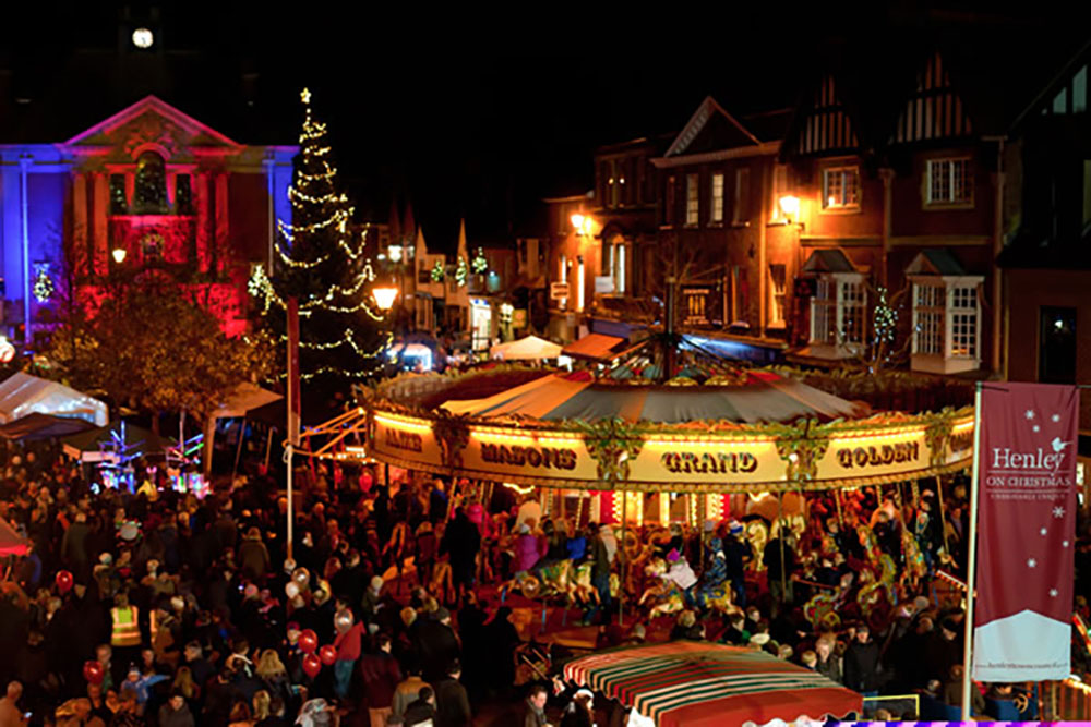 Henley Town Council - View of Henley Town at Christmas festival