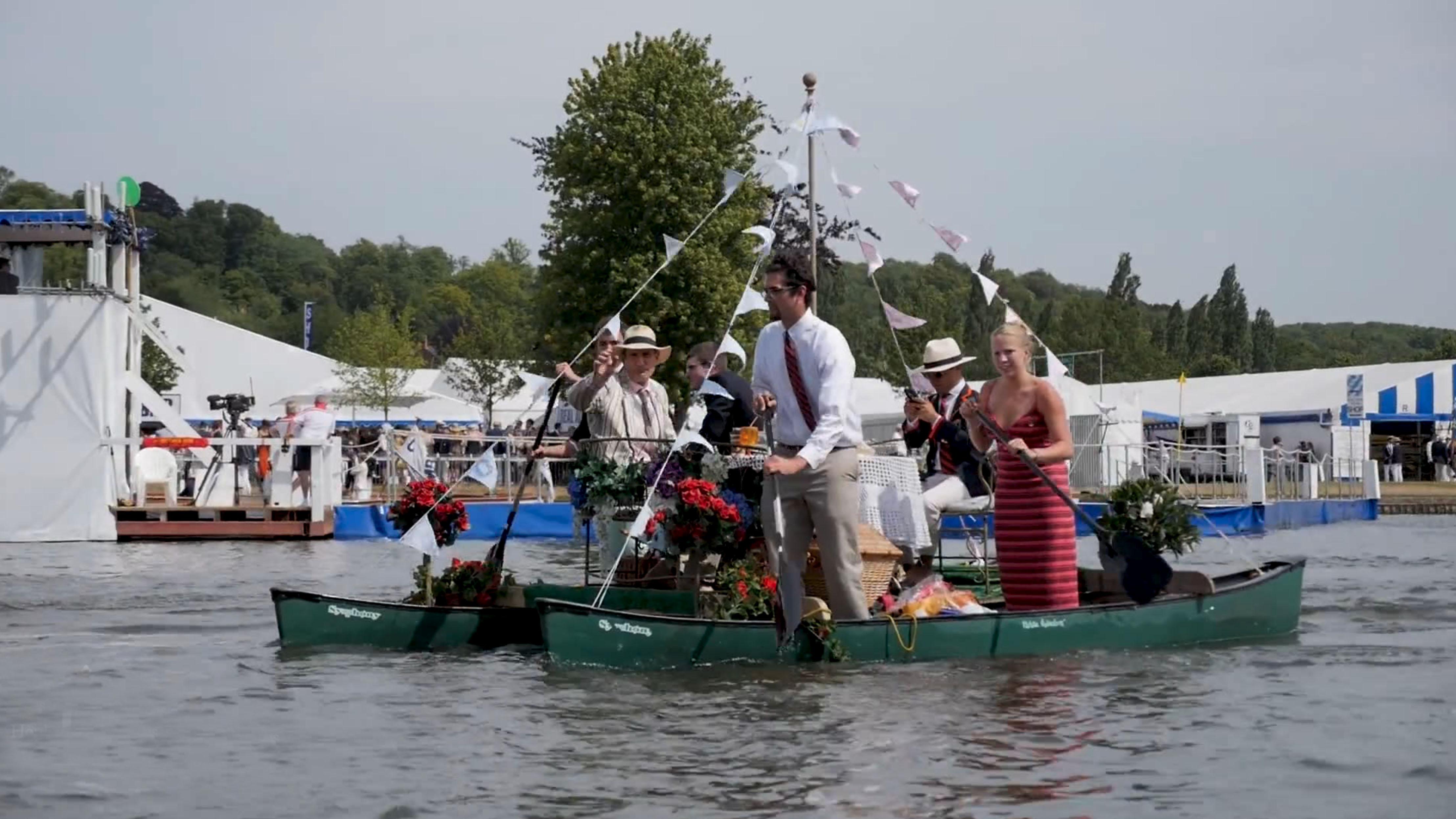 Henley Town Council - boats during the Henley Royal Regatta