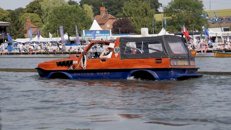 Henley Town Council - amphibious car taking part in Henley Royal Regatta