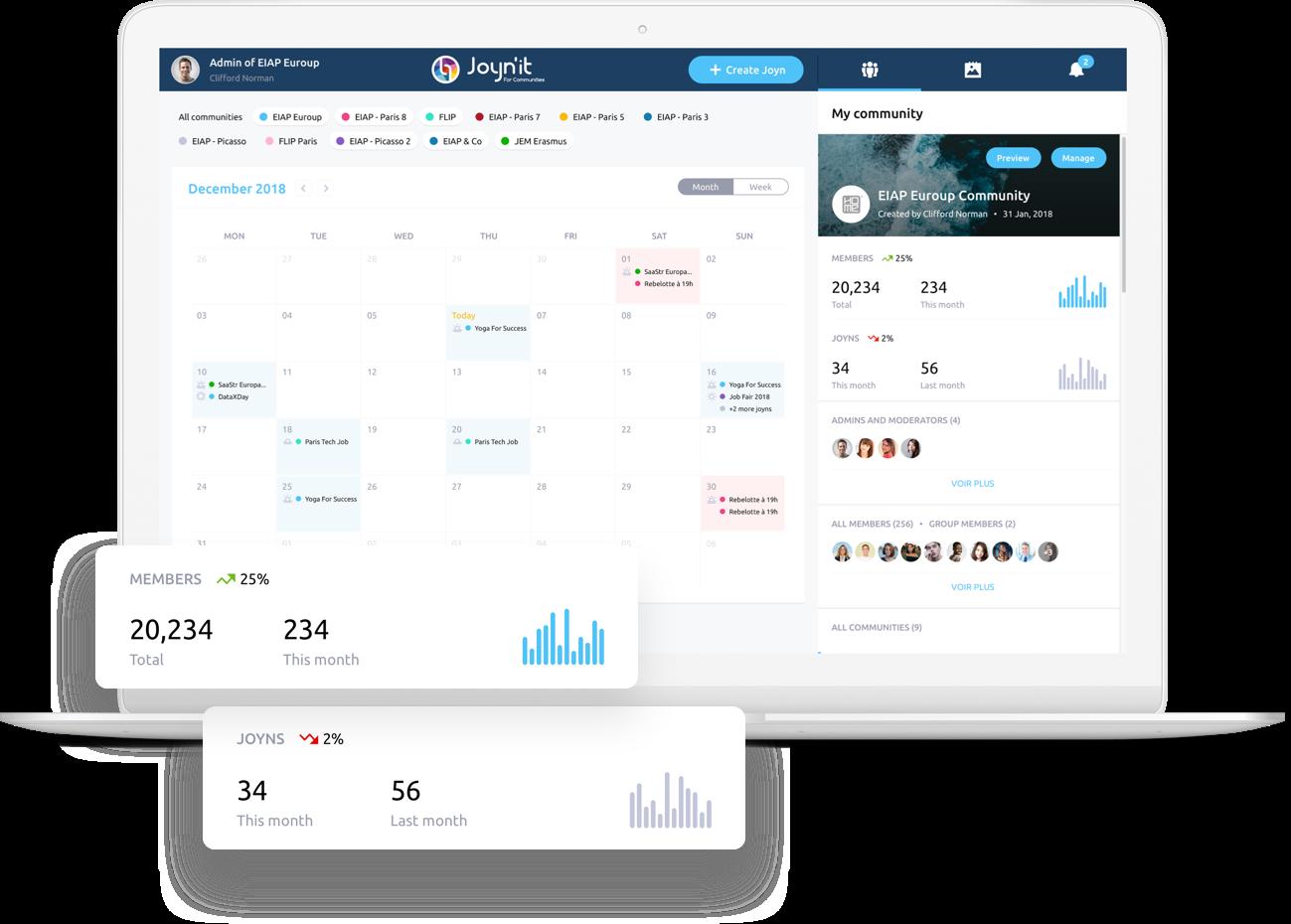 Joynit - calendrier de communauté en ligne