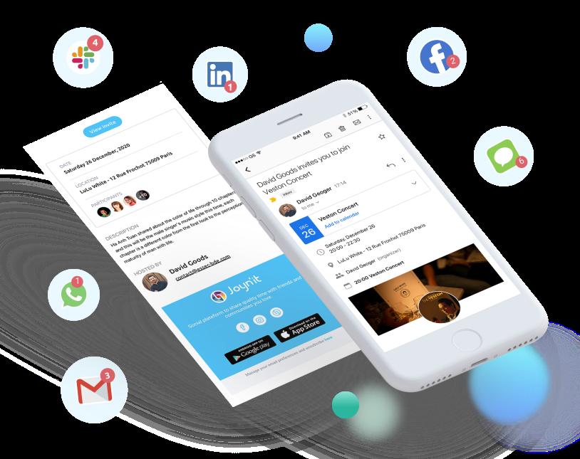 Joynit - invitation sur mobile simplifiée