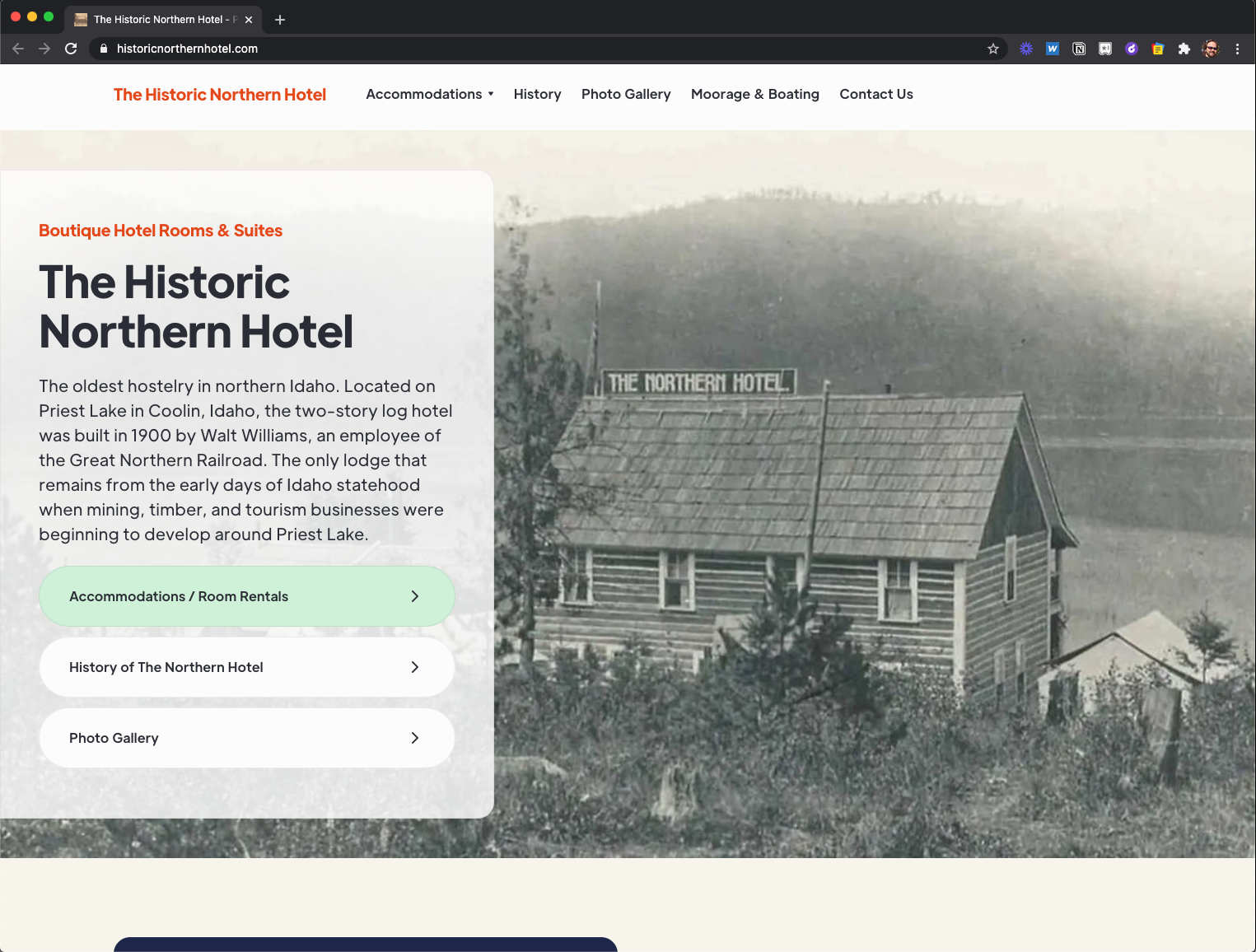 The hotel required new rebranding when the owner took over. This website was redesigned to improve SEO and make it responsive so that it can be viewed on all devices. The site utilizes the pixelcactus platform thus making future edits more manageable and time-cost effective.