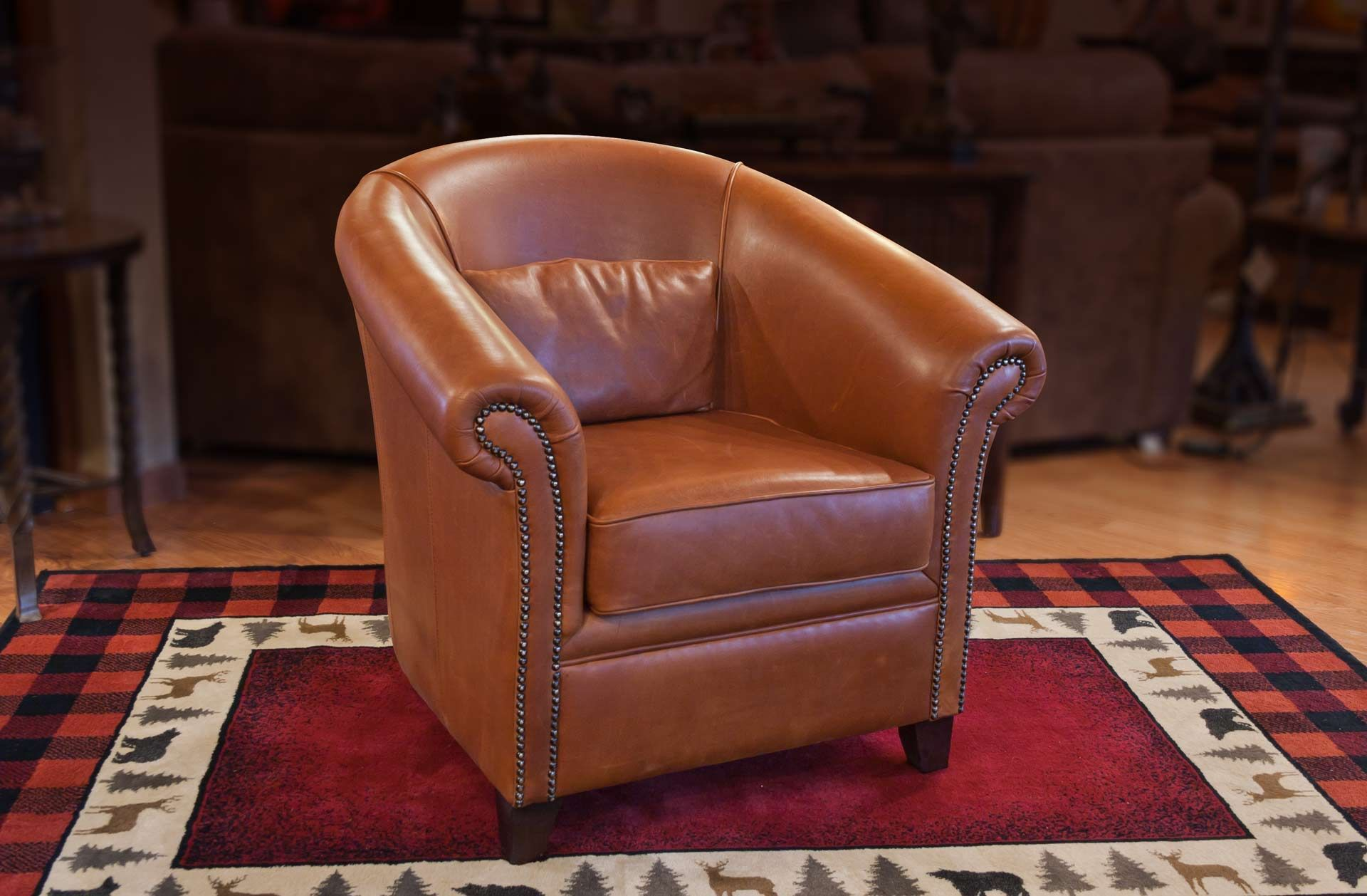 """Dante Leather Chair"" furniture product photography"