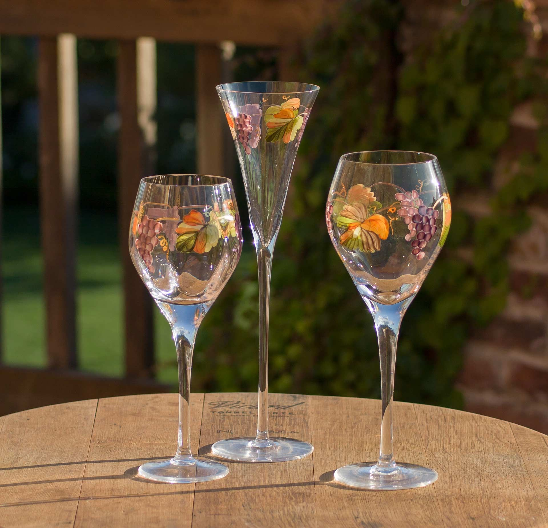Wine glasses for website product listing