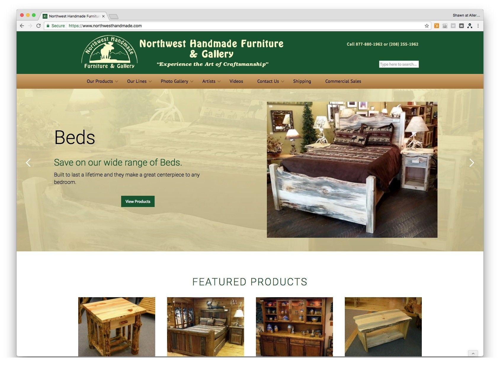 We redesigned northwesthandmade.com to improve SEO and make it responsive so that it can be viewed on all devices. The site utilizes the pixelcactus platform thus making future edits more manageable and time-cost effective. There is an added bonus feature that showcases artisans in their store on 1st Avenue in Sandpoint, Idaho