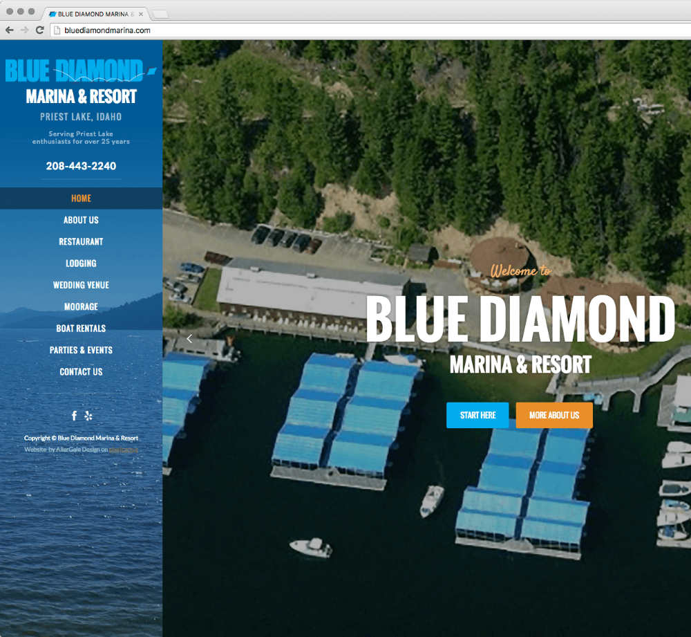 screen capture of website built by AllerGale Design