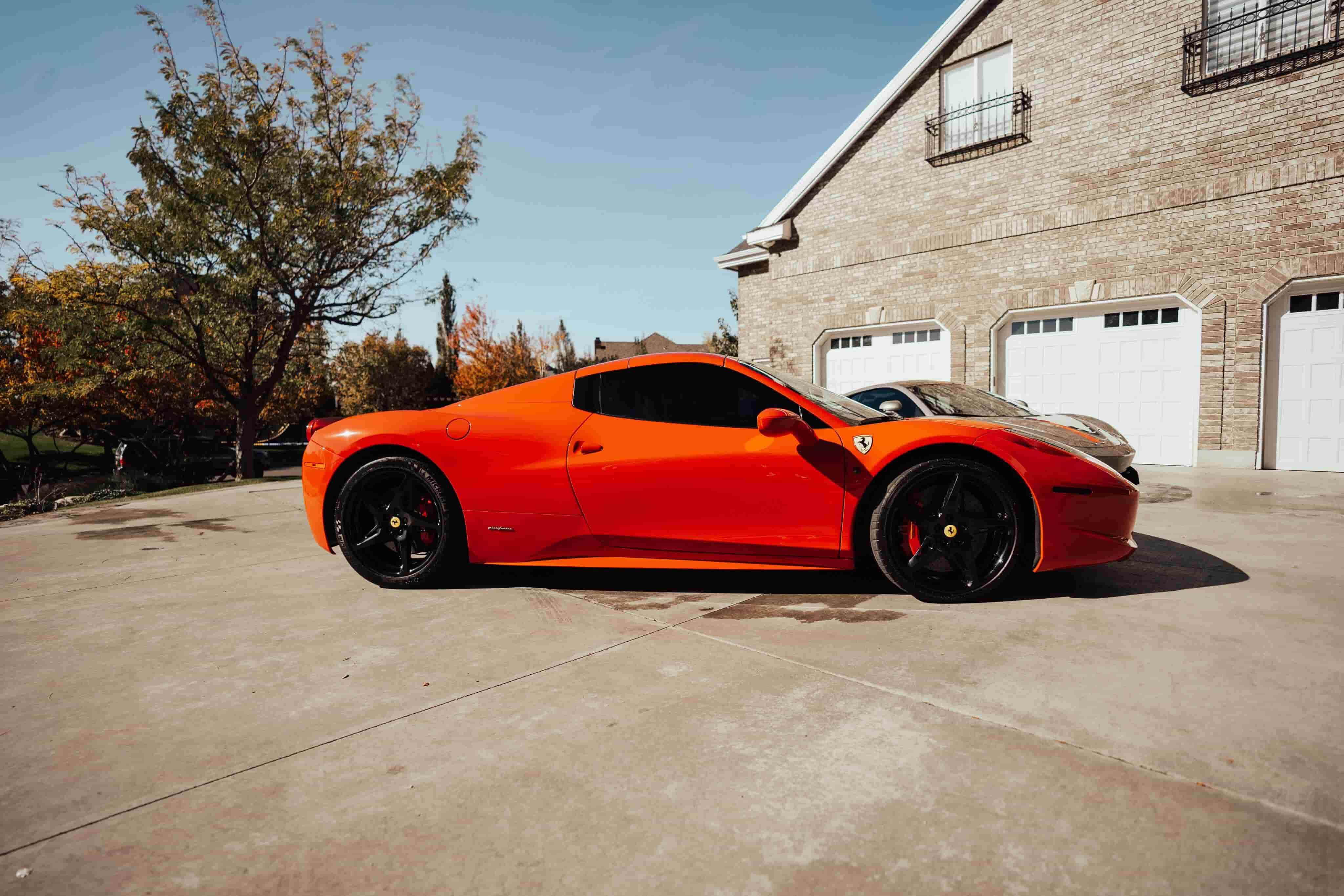 Red car in Utah after VIP Detailing.