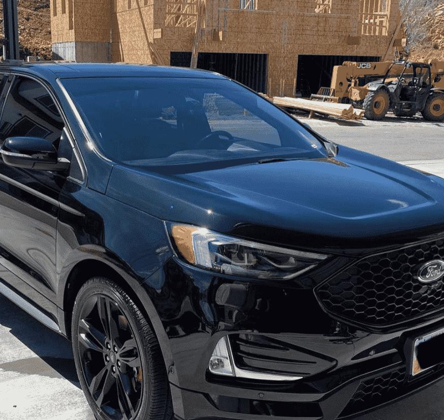 Black Ford car after car detailing in Utah.