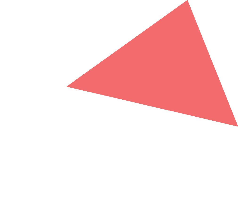 Decorative pink triangle