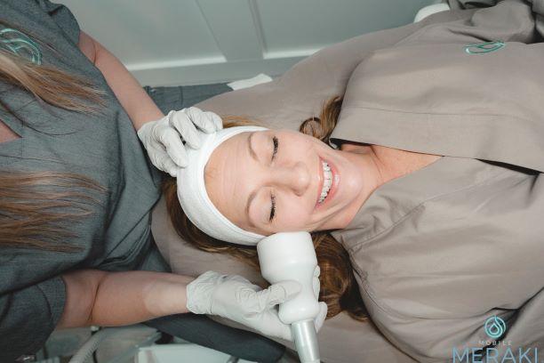 Lavender aromatherapy massage