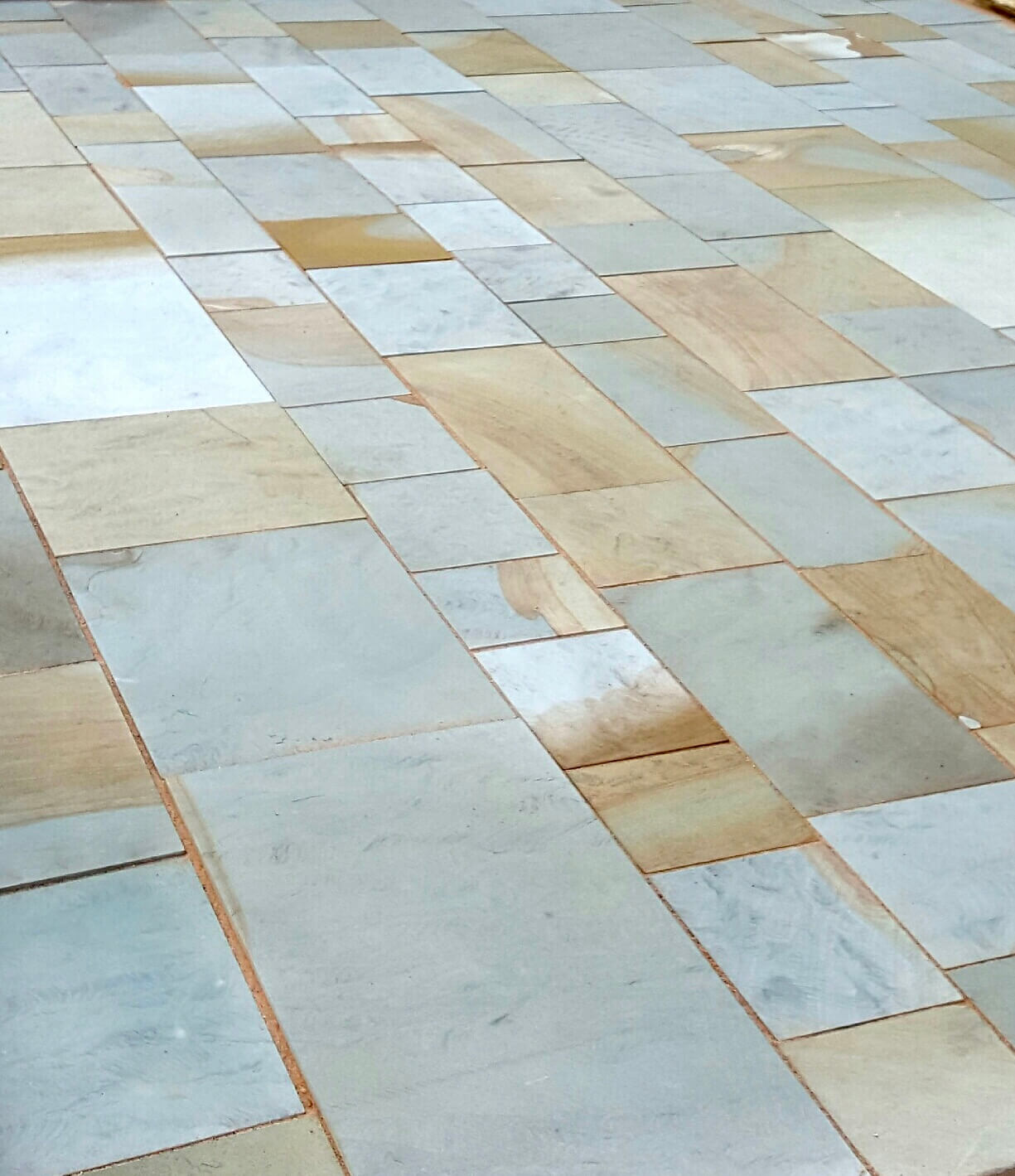 Abbey Moor Yorkstone is durable and slip proof - perfect for heavy traffic areas.