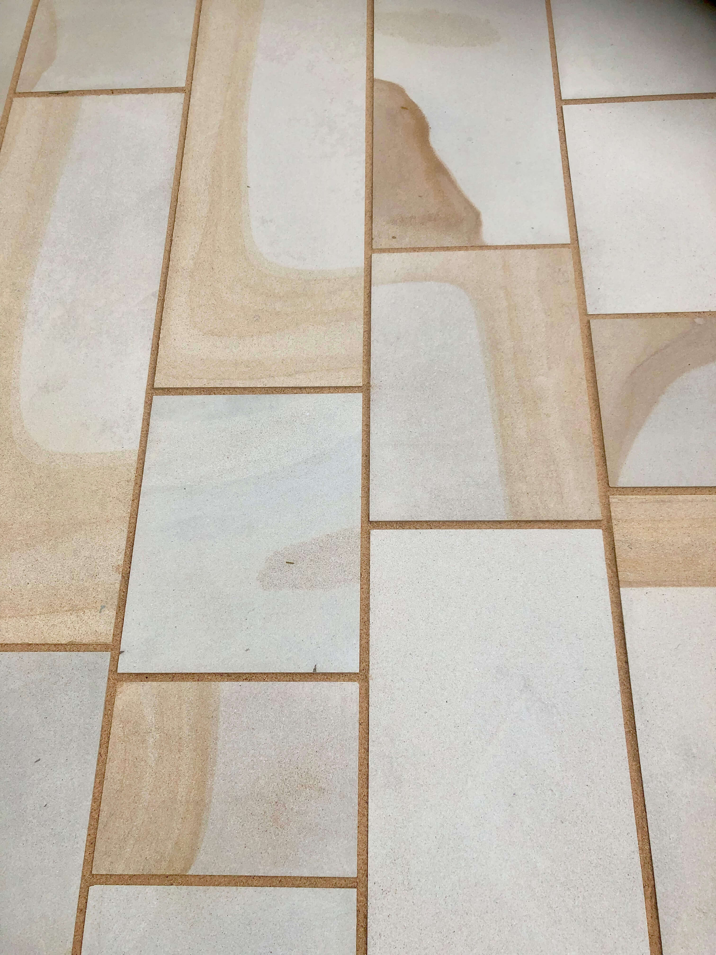 RGB Landscapes is the exclusive supplier of Mouselow Yorkstone - pictured here used in paving.