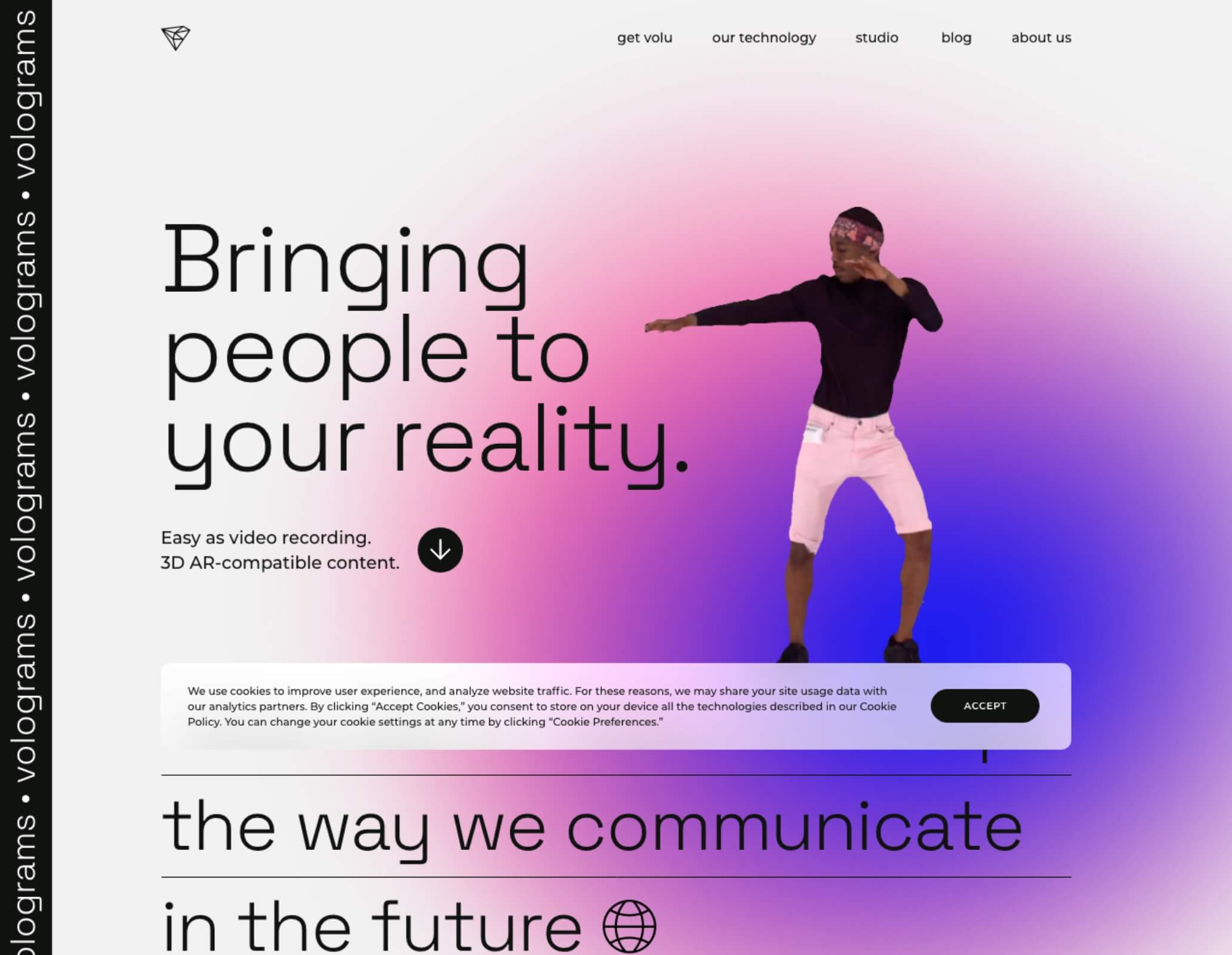 hologram website screenshot