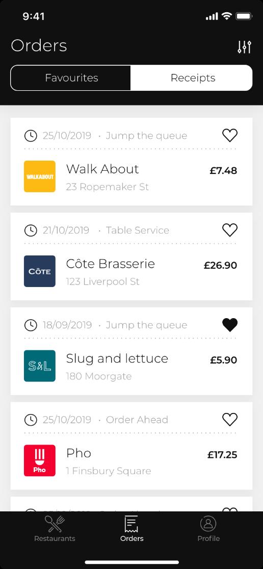 Orderpay App screen