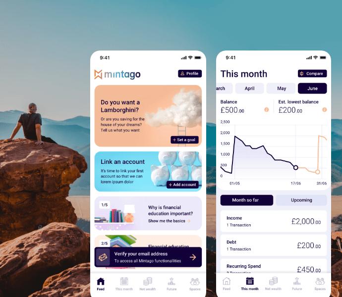 Mintago app screen