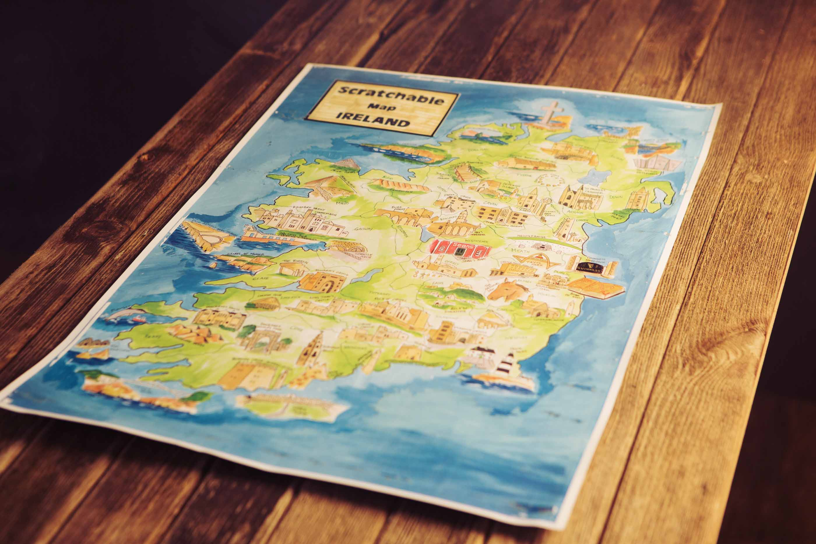 Scratchable Map