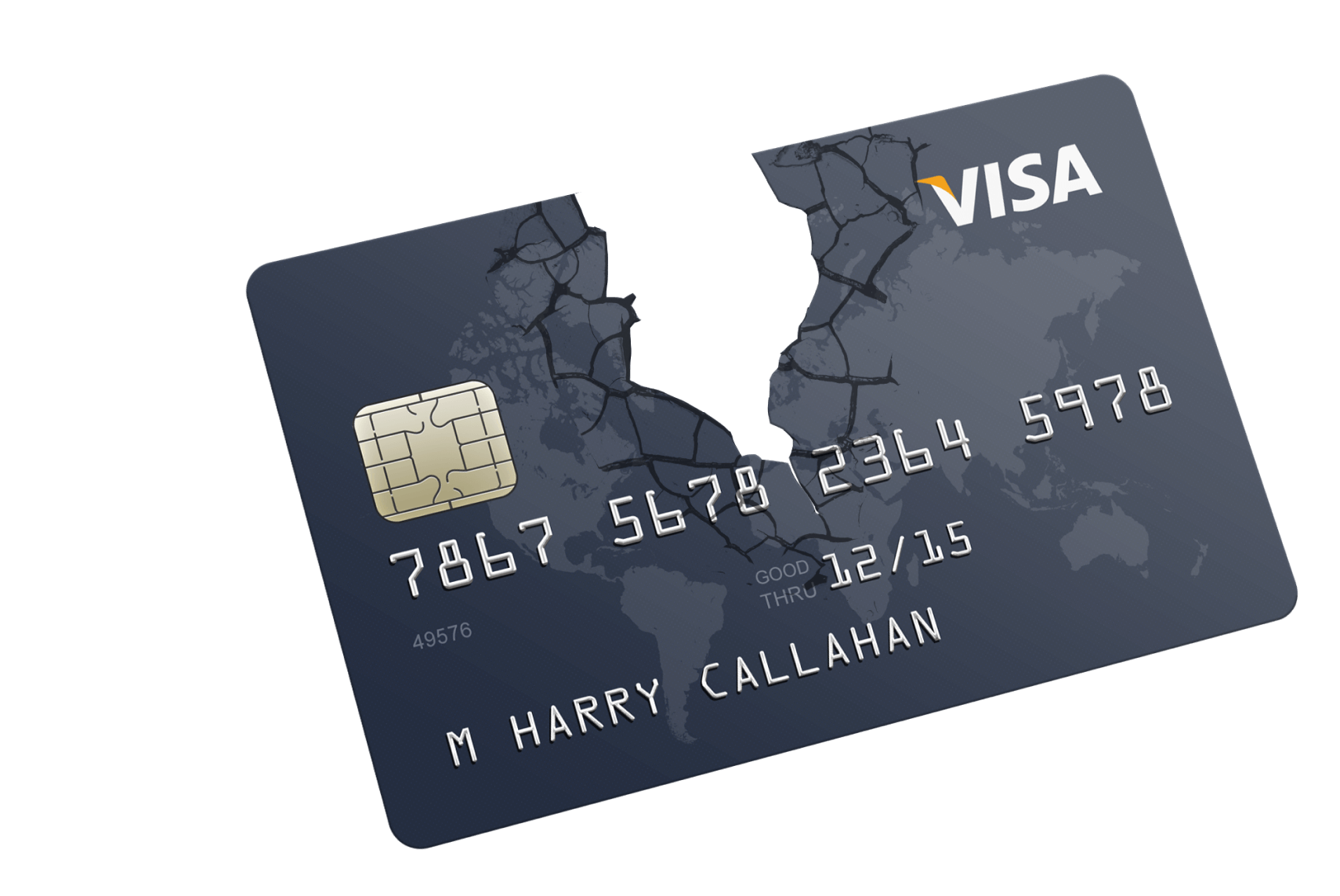 broken credit card