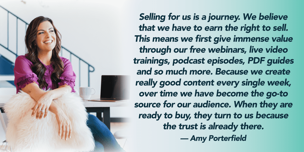 amy porterfield selling quote