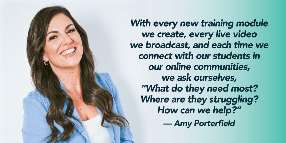 amy porterfield quote on online communities