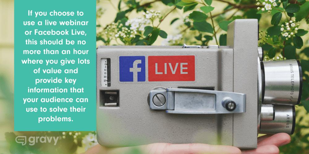 facebook live quote