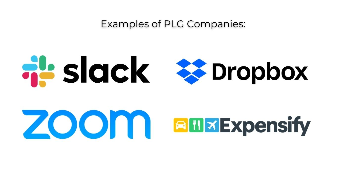 product led growth company examples