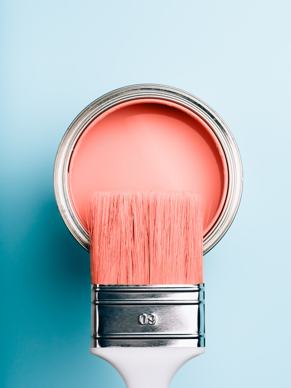 Paint pot bright pink