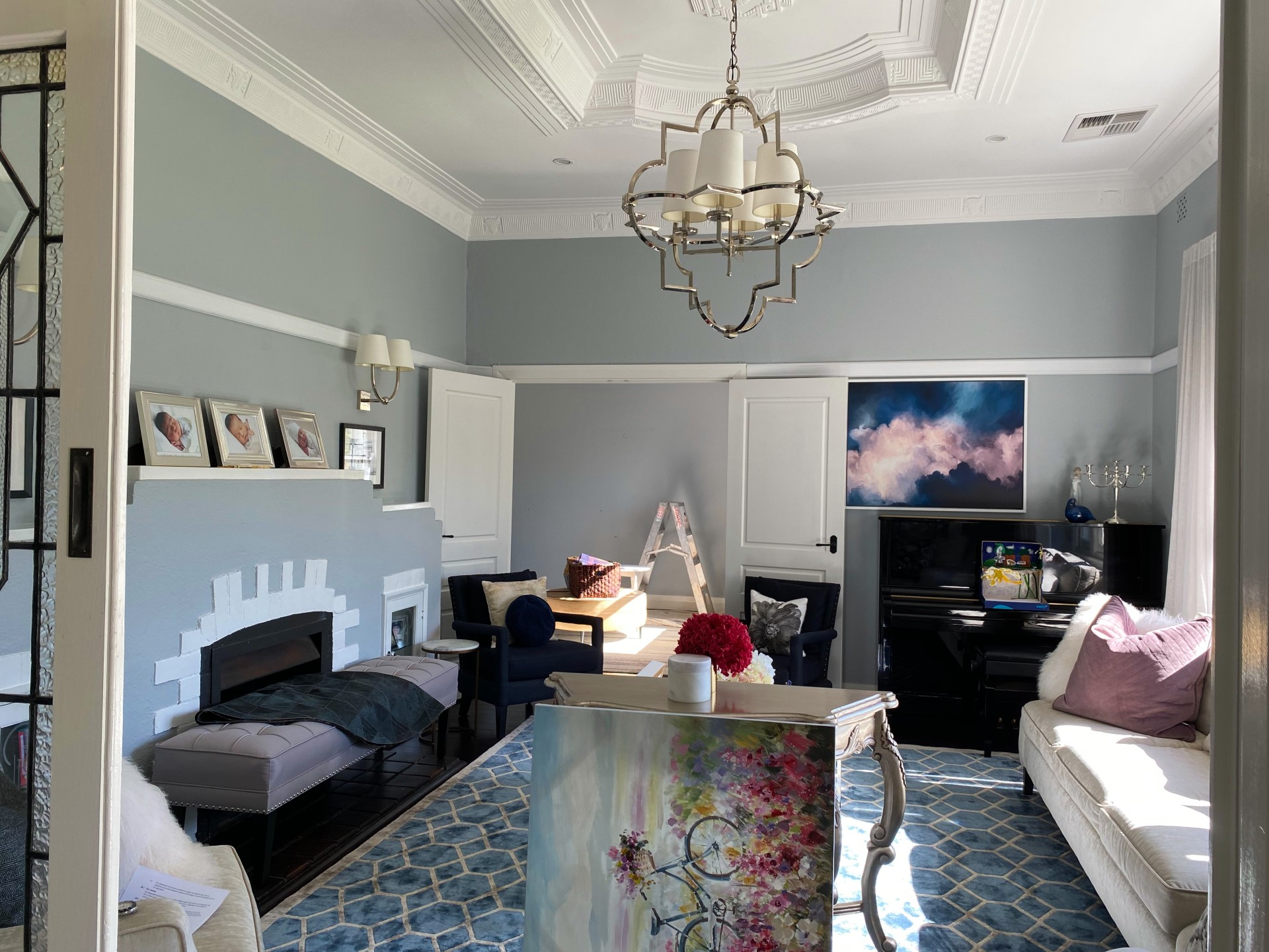 Lounge room painted