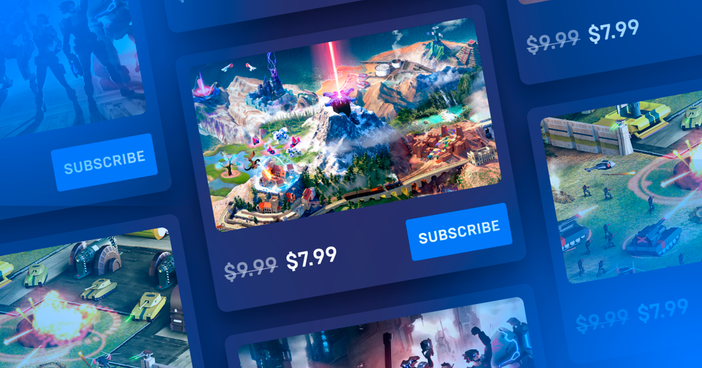 SUBSCRIPTIONS FOR GAMES CATALOG PLATFORMS