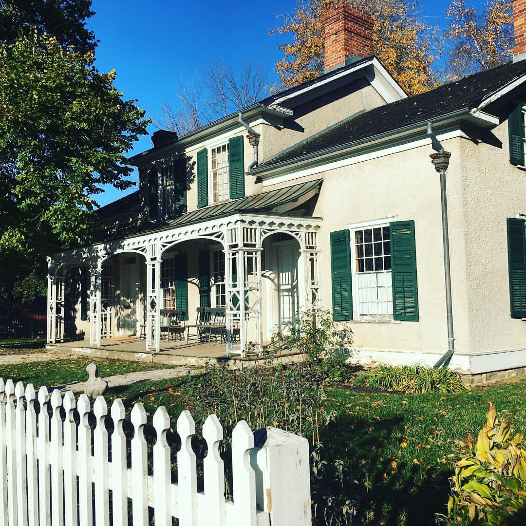 old white farmhouse exterior