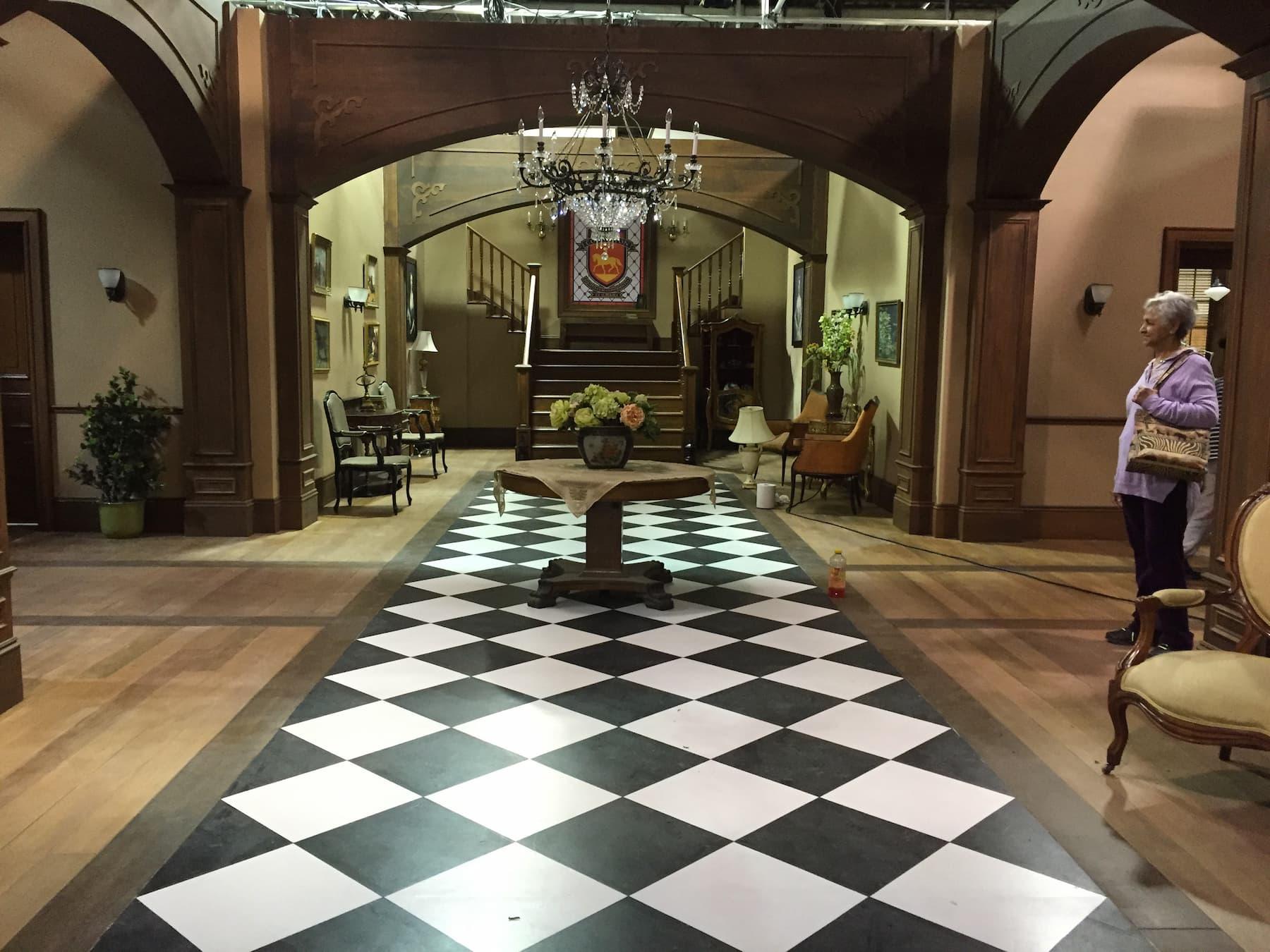 grand hallway in highschool mansion