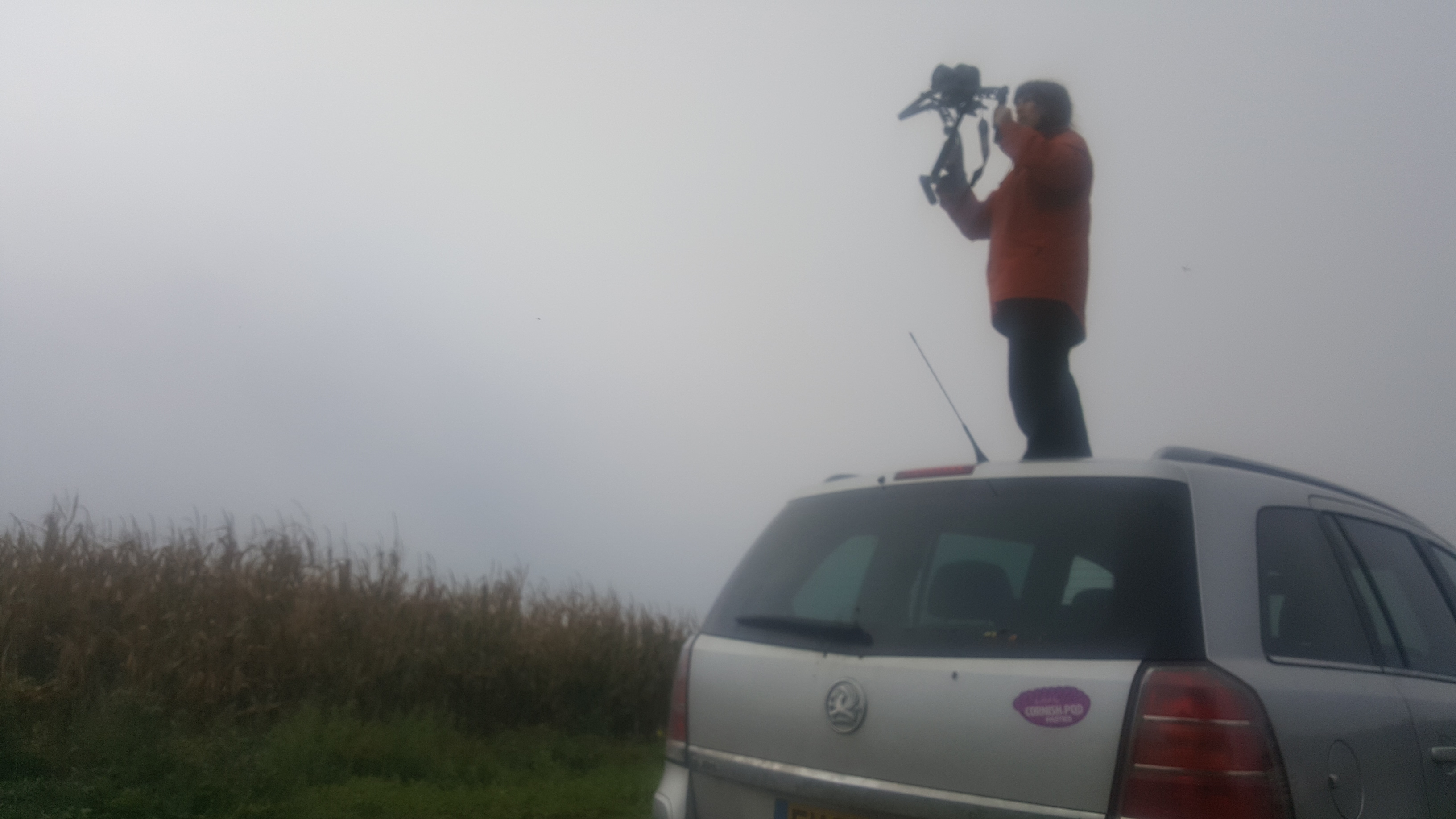 Cornwall Climate Care - photography on car roof