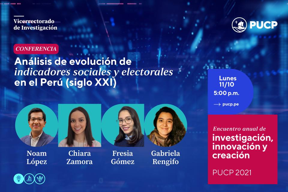 """Revive la conferencia de Pulso PUCP: """"Análisis de evolución de indicadores sociales y electorales en el Perú en el siglo XXI"""""""