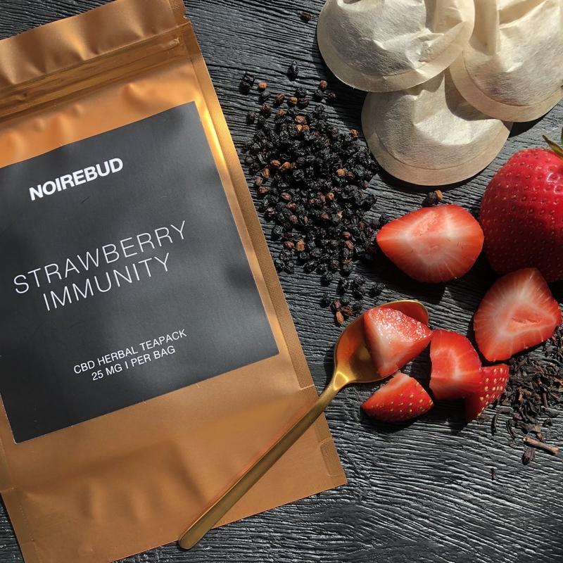 CBD Herbal Tea, Strawberry Immunity